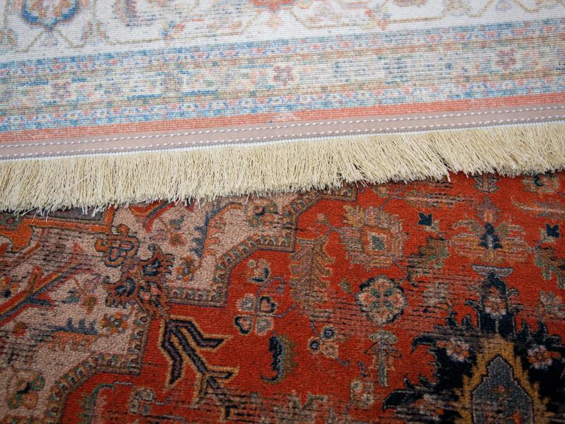 Woven carpet front and backside