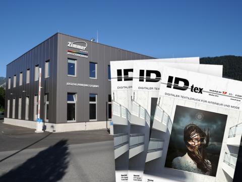 IDtex - Oktober 2016 - Digitaldruck vor Alpenkulisse