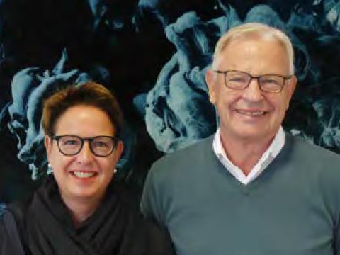 Stefanie Ritterbach und Ulrich Dresing, sind Inhaber und Geschäftsführer der Teppichbodenhersteller Infloor und Girloon.